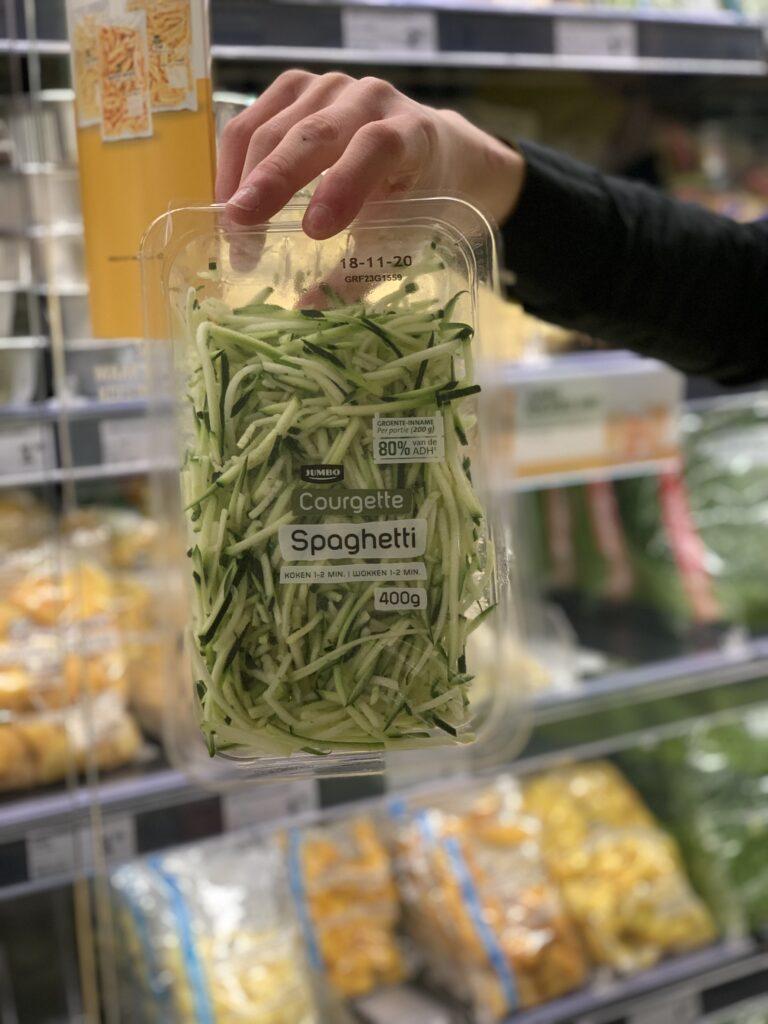 Hoe kook je groente spaghetti